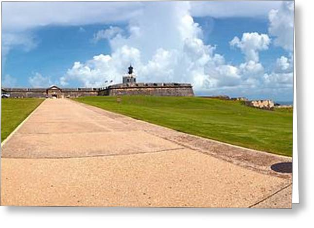 El Morro Walkway Greeting Card by Carey Chen