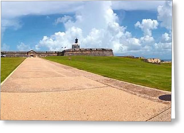 El Morro Walkway Greeting Card