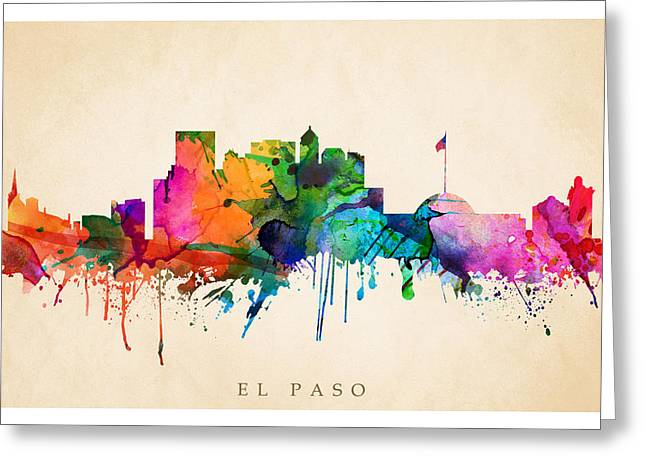 El Paso Cityscape Greeting Card by Steve Will