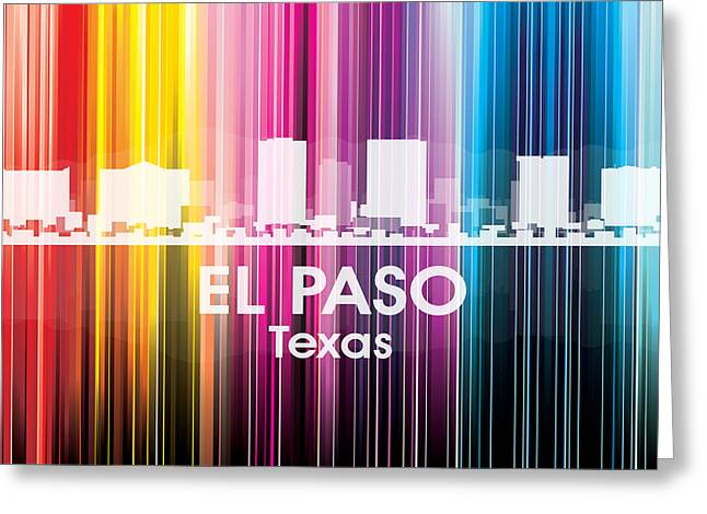El Paso Tx 2 Greeting Card by Angelina Vick