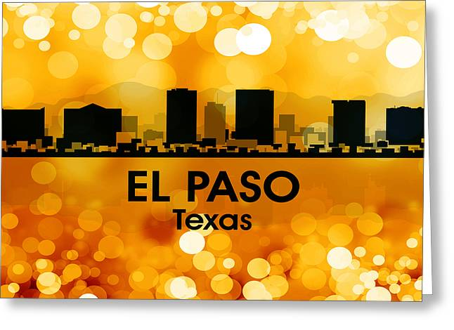 El Paso Tx 3 Greeting Card by Angelina Vick