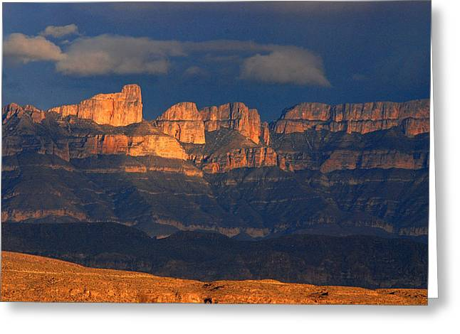 El Pico And Sierra Del Carmen Greeting Card by Cindy McIntyre