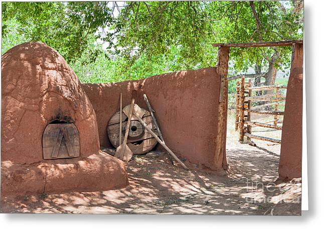 Greeting Card featuring the photograph El Rancho De Las Golondrinas by Roselynne Broussard