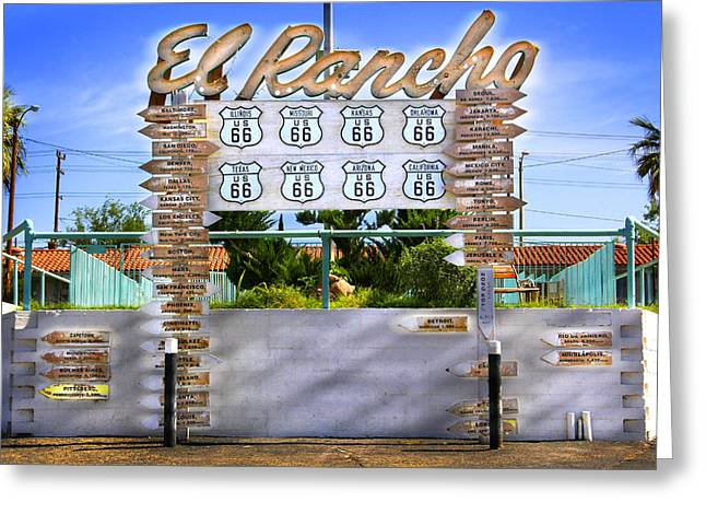 El Rancho Motel 2 - Barstow Greeting Card by Mike McGlothlen