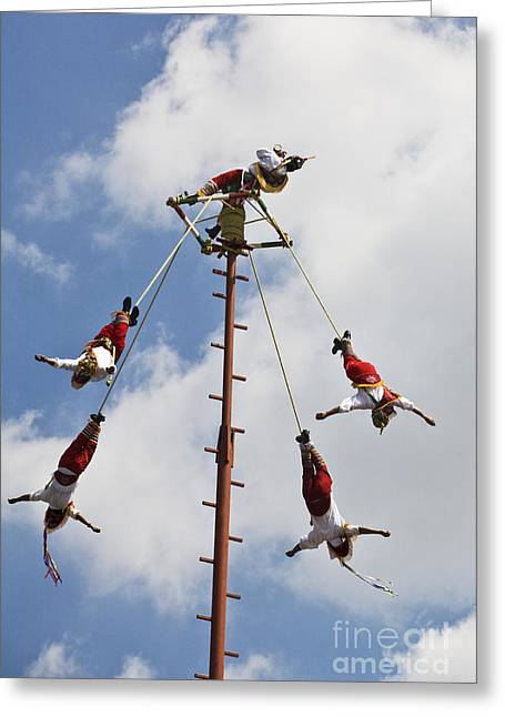 El Tajin Sky Dancers From Veracruz Greeting Card by Craig Lovell