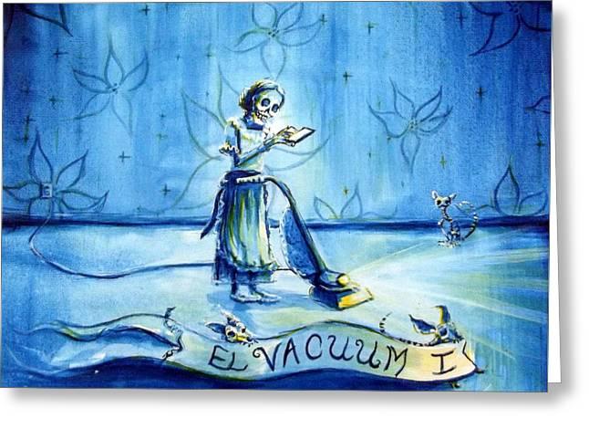 El Vacuum I Greeting Card by Heather Calderon