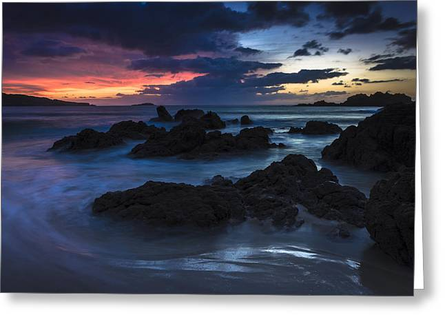 Greeting Card featuring the photograph El Villar Beach Galicia Spain by Pablo Avanzini