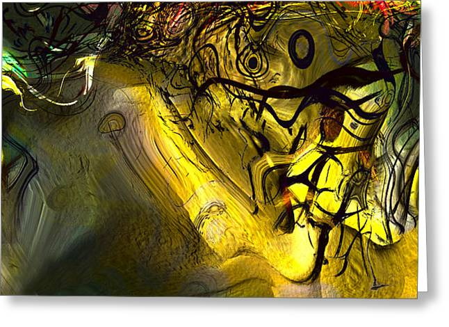 Greeting Card featuring the digital art Elaboration Of Day Into Dream by Richard Thomas