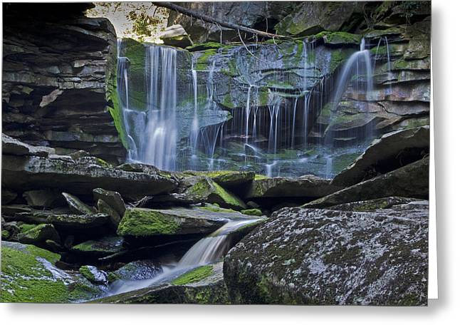 Elakala Falls Number 1 Greeting Card by Shelly Gunderson