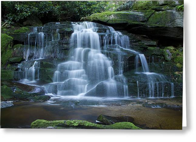 Elakala Falls Number 2 Greeting Card by Shelly Gunderson