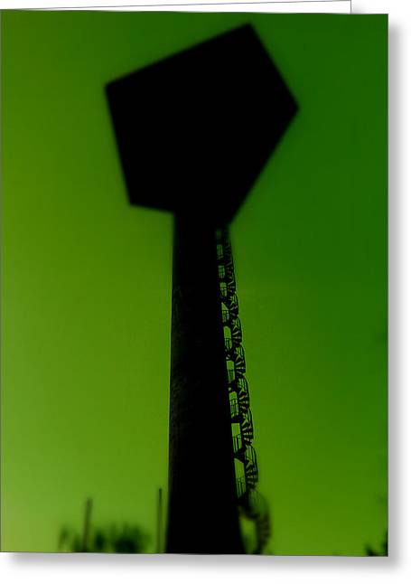 Greeting Card featuring the photograph Elastic Concrete Part Four by Sir Josef - Social Critic - ART
