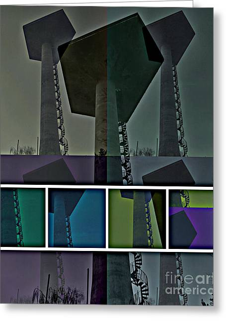 Greeting Card featuring the photograph Elastic Concrete Part One by Sir Josef - Social Critic - ART