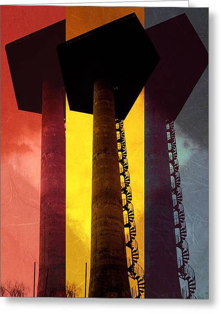 Greeting Card featuring the photograph Elastic Concrete Part Three by Sir Josef - Social Critic - ART