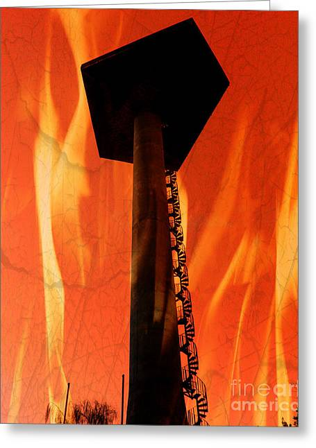 Greeting Card featuring the photograph Elastic Concrete Part Two by Sir Josef - Social Critic - ART