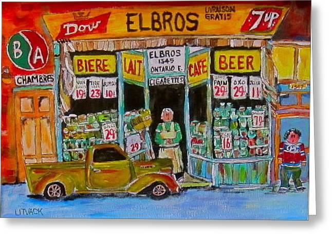 Elbros Depanneur Greeting Card by Michael Litvack