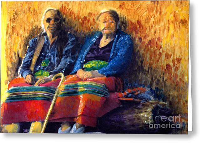 Elders Greeting Card by Cindy McIntyre