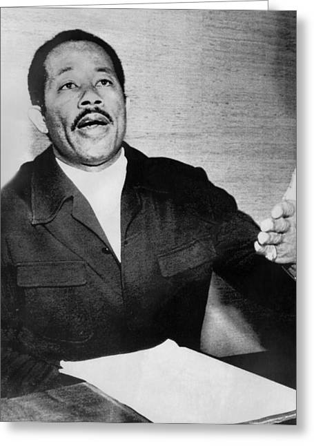Eldridge Cleaver In Exile Greeting Card by Underwood Archives