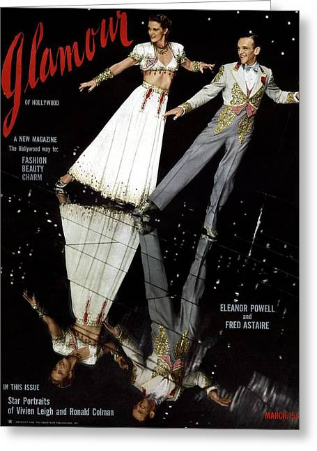 Eleanor Powell And Fred Astaire On The Cover Greeting Card by Artist Unknown