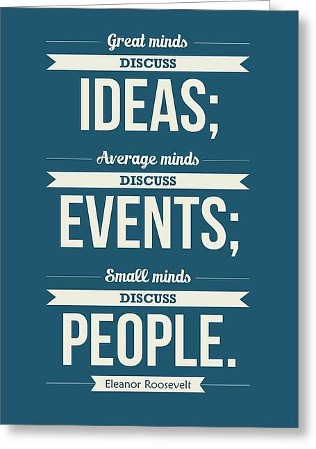 Eleanor Roosevelt Typography Print Art Quotes Poster Greeting Card