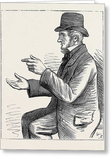 Election Sketches Argument 1880 Greeting Card by English School