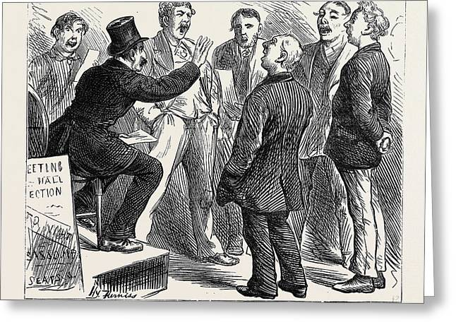Election Sketches Jingoes Rehearsing Rule Britannia 1880 Greeting Card