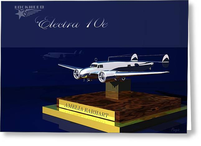 Greeting Card featuring the digital art Electra 10e by John Pangia