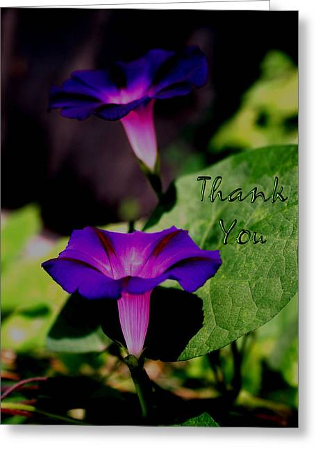 Electric Blue   And A Reminder To Utter The Words Thank You. Greeting Card