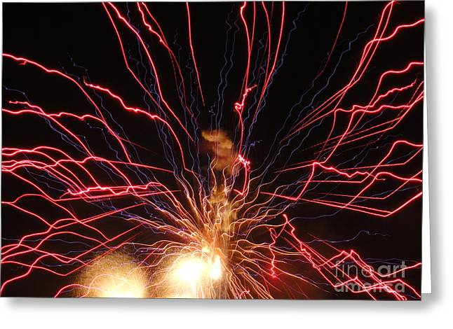 Electric City Fireworks 2013 Xv Greeting Card by Daniel Henning