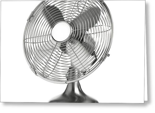 Electric Fan Greeting Card by Science Photo Library