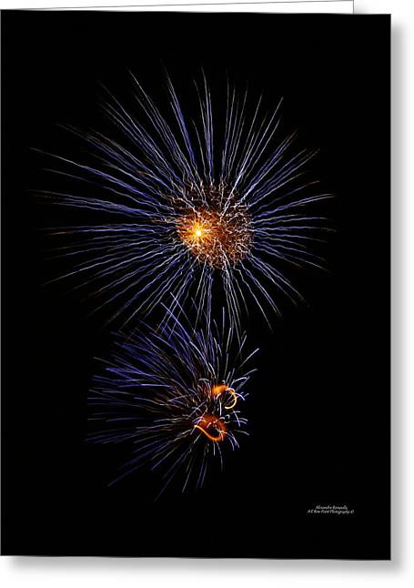 Electric Fire Ball Greeting Card by Alexandra  Rampolla