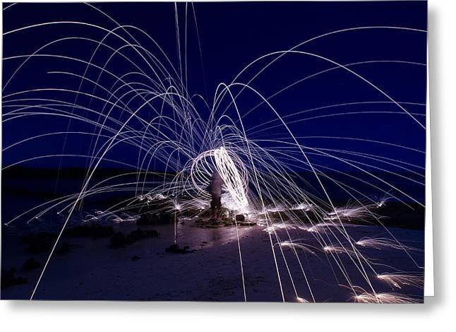 Electric Firework Greeting Card