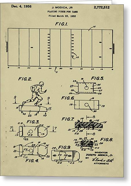 Electric Football Patent Greeting Card by Bill Cannon