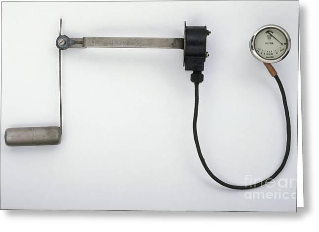 Electric Fuel Gauge, 1930s Greeting Card by Dave Rudkin / Dorling Kindersley