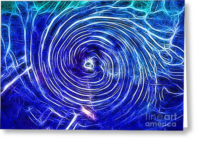 Electric Glass Light 4 Greeting Card