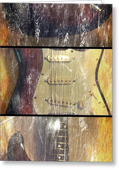 Electric Guitar #2 - In The Studio Greeting Card by Brian Howard