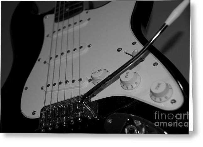 Greeting Card featuring the photograph Electric Guitar  by Sarah Mullin