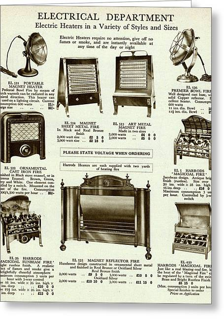 Electric Heaters In A Variety Greeting Card