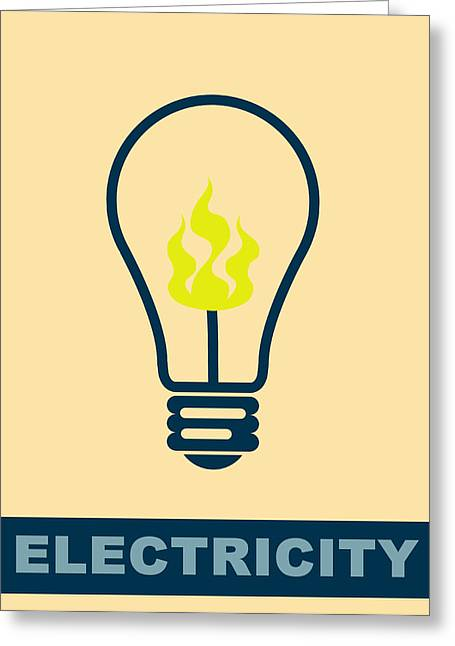 Electric Lamp Greeting Card by Tommytechno Sweden