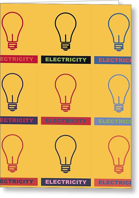 Electric Lamps Greeting Card