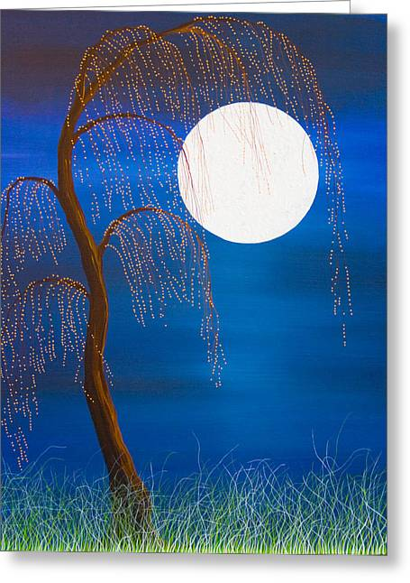 Electric Moonlight Greeting Card
