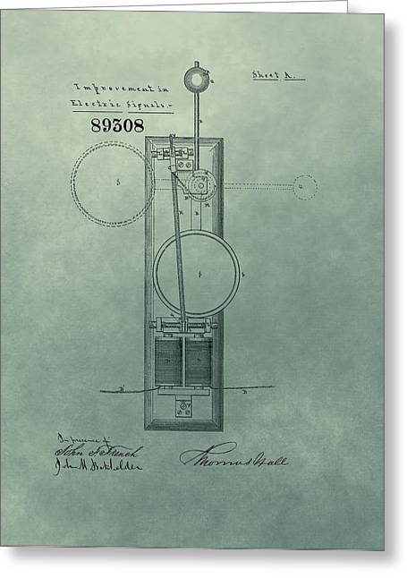 Electric Signal Patent  Greeting Card