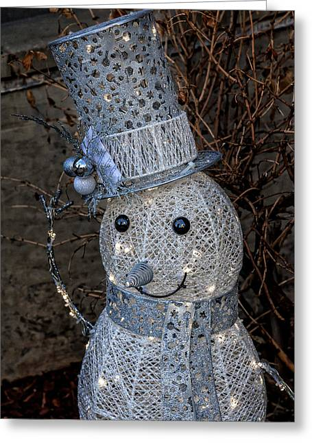 Electric Snowman Greeting Card