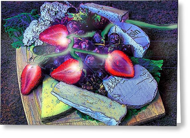 Electric Strawberries Greeting Card by ARTography by Pamela Smale Williams