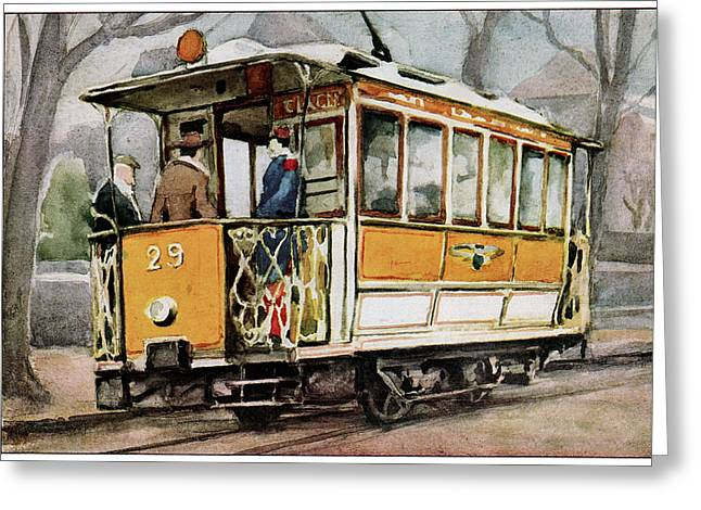 Electric Tram Greeting Card by Cci Archives