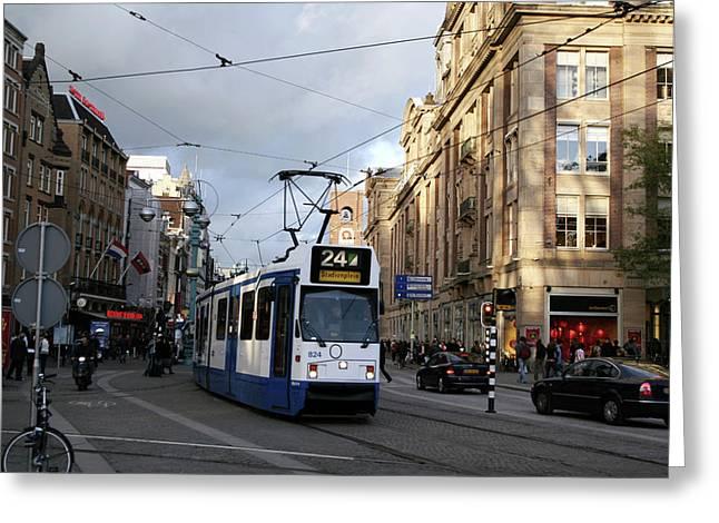 Electric Tram Greeting Card