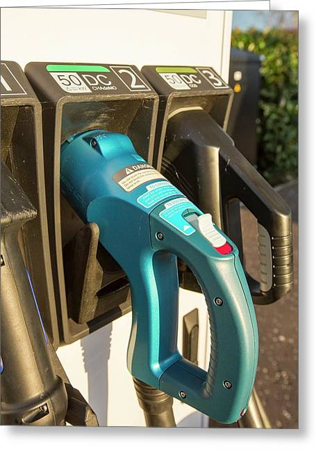 Electric Vehicle Recharging Station Greeting Card