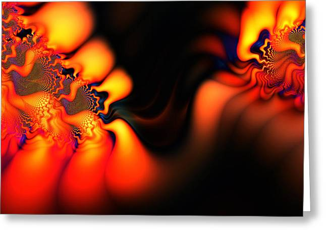 Electric Wave Greeting Card