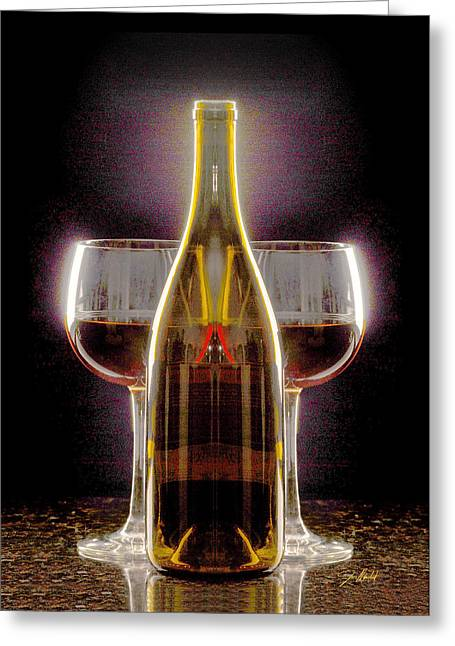 Electric Wine Greeting Card by Jon Neidert