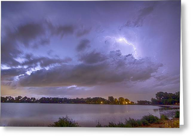 Electrical Arcing Cloud Greeting Card by James BO  Insogna