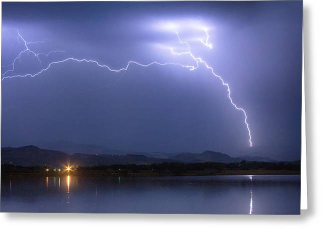 Electrical Arcing Sky Greeting Card by James BO  Insogna